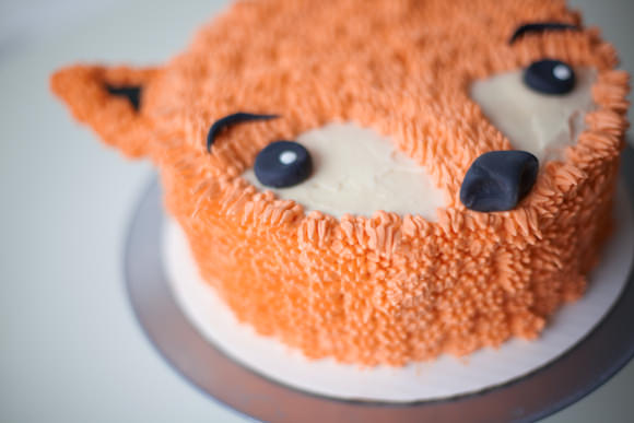 DIY Furry Fox Cake