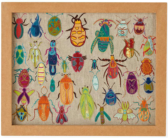 ... Art For Kidsu0027 Rooms: Natural History Framed Embroidered Bugs (via The  Land Of