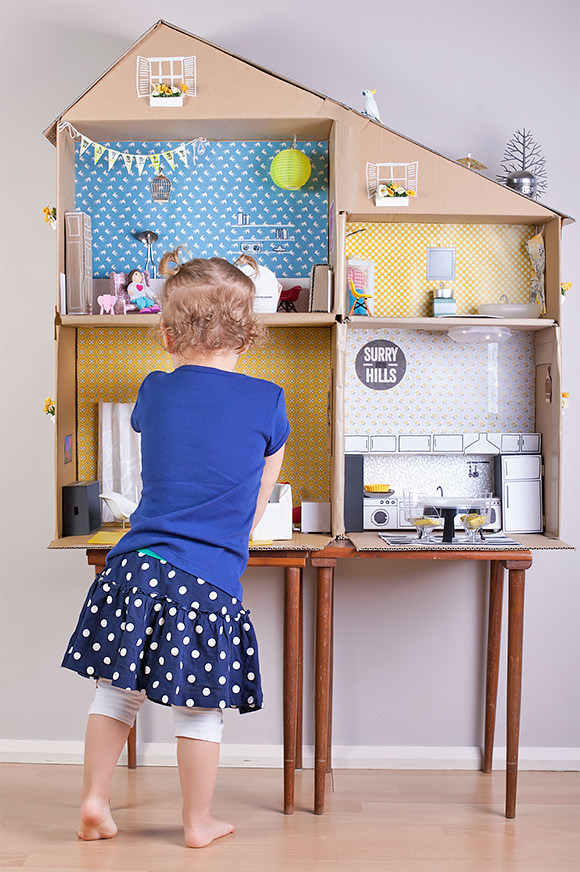 6 Ways To Make A Cardboard Dollhouse Handmade Charlotte