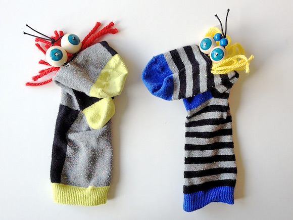 DIY Googly-Eye Sock Puppets
