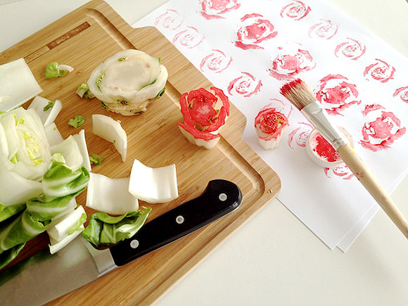 DIY Fruit & Veggie Stamps