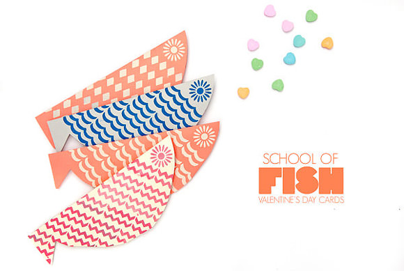 DIY School of Fish Valentines - perfect for kids to hand out to their class!