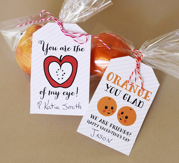 DIY Fruit Tags For Valentine's Day