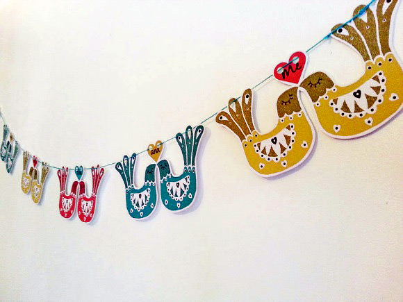 Love Bird Garland By Felt Mountain Studios