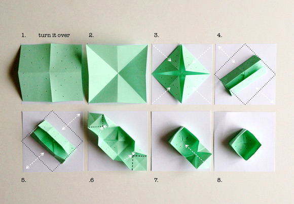 Origami Square Box With Lid