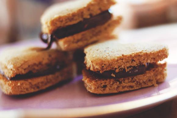 Gluten-Free Nutella & Peanut Butter Heart Cookies