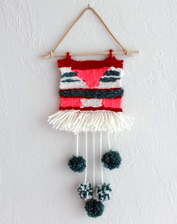 8 simple diy wall hangings handmade charlotte for Wall hanging images