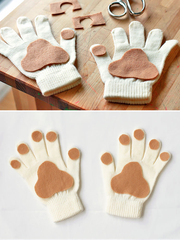 DIY Puppy Paw Gloves for Kids
