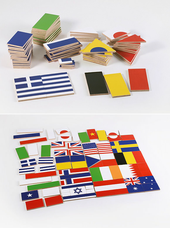 """The Flags"" Wooden Puzzle"