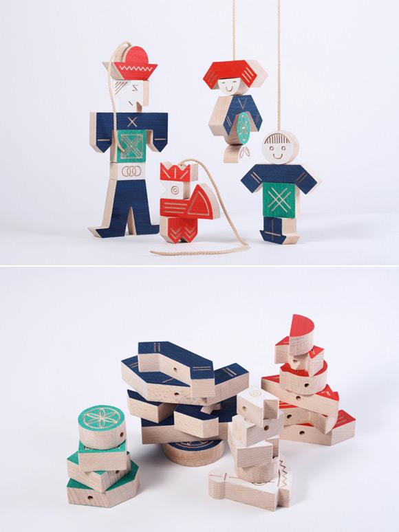 Wooden Interchangeable Puppets