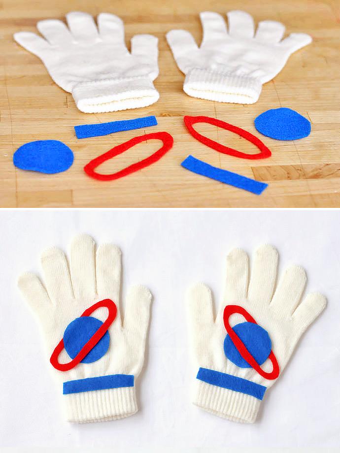DIY Astro Hands Gloves for Kids