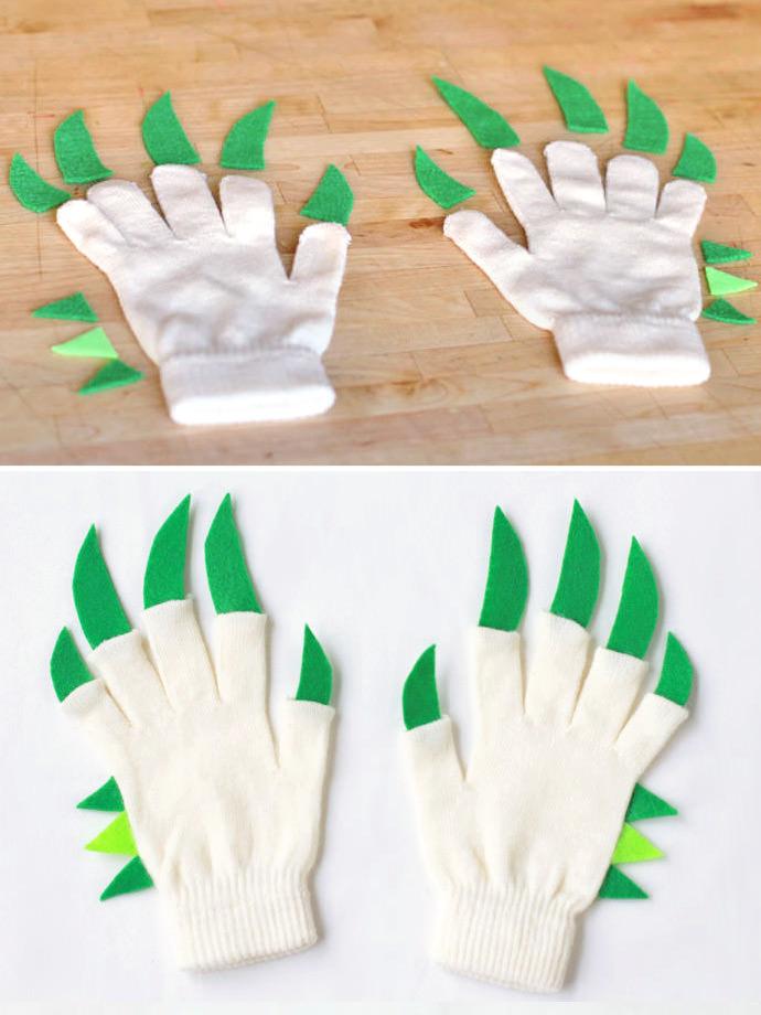 DIY Dragon Hands Gloves for Kids