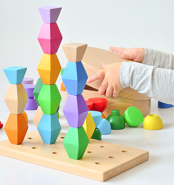Colorful 3D Wooden Blocks