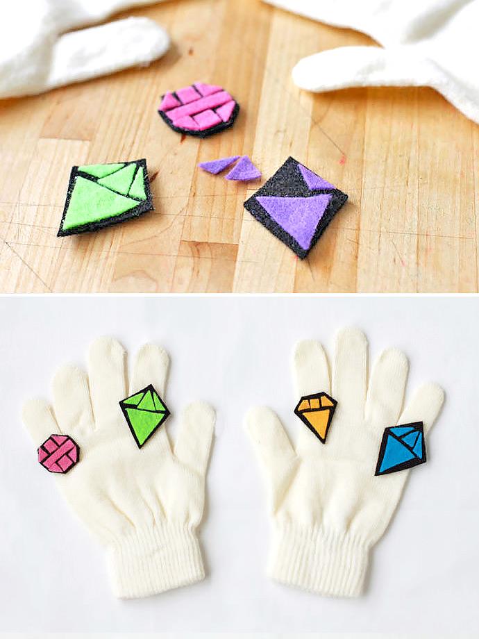DIY Bling Gloves for Kids