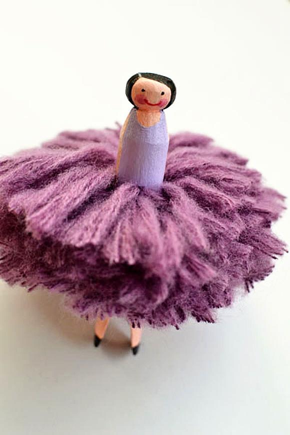 DIY Wooden Flower Girl Fairy Doll