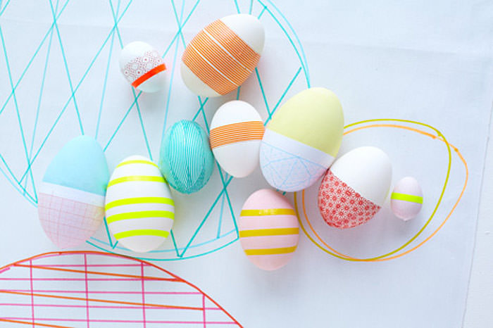 DIY Geometric Easter Eggs