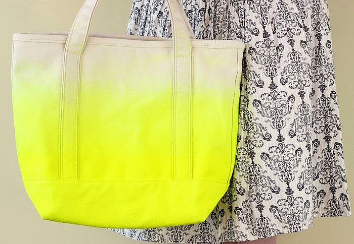 DIY Neon Dipped Tote Bag