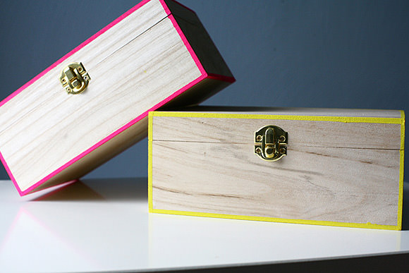 DIY Neon Edged Boxes