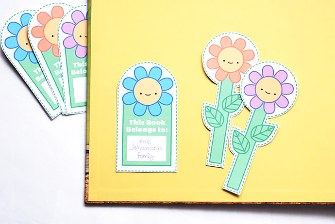 Printable Happy Flower Reading Companions