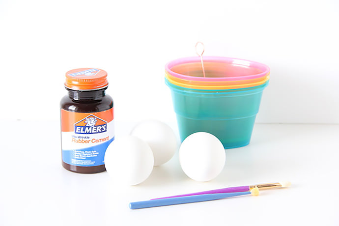 Here's a fun + simple technique to dye Easter egg patterns using rubber cement.