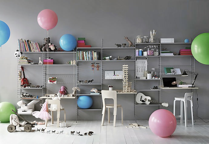 Modern And Minimal Wall Shelves For Kidsu0027 Rooms   The String Shelf
