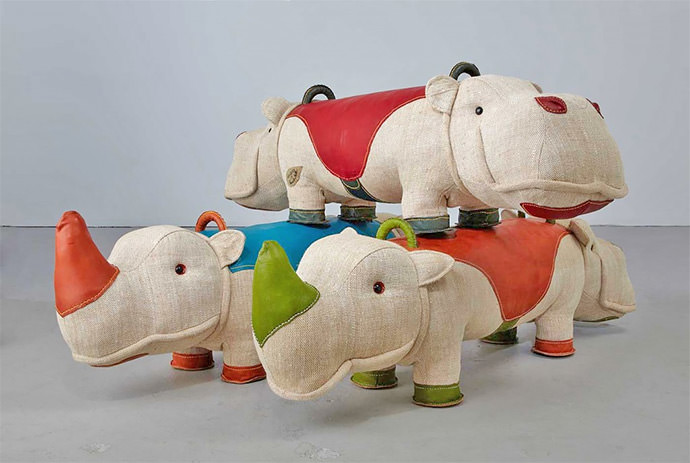 Leather and Jute Toys by Renate Muller