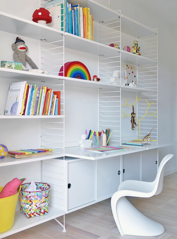 Modern And Minimal Wall Shelves For Kids Rooms
