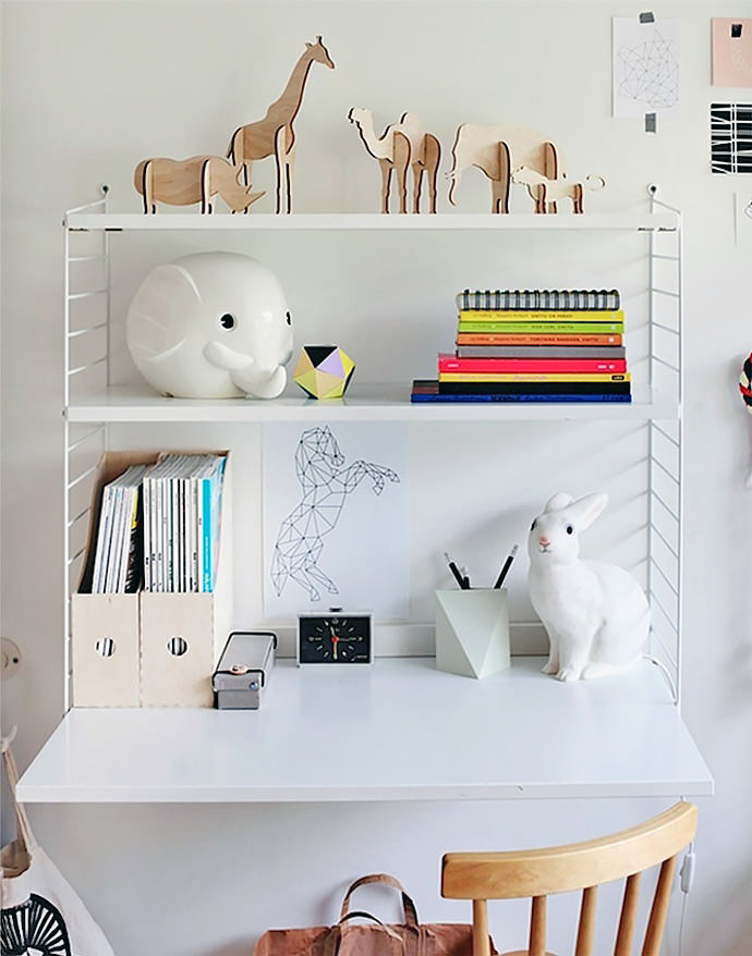 Elegant ... Modern And Minimal Wall Shelves For Kidsu0027 Rooms   The String Shelf ...