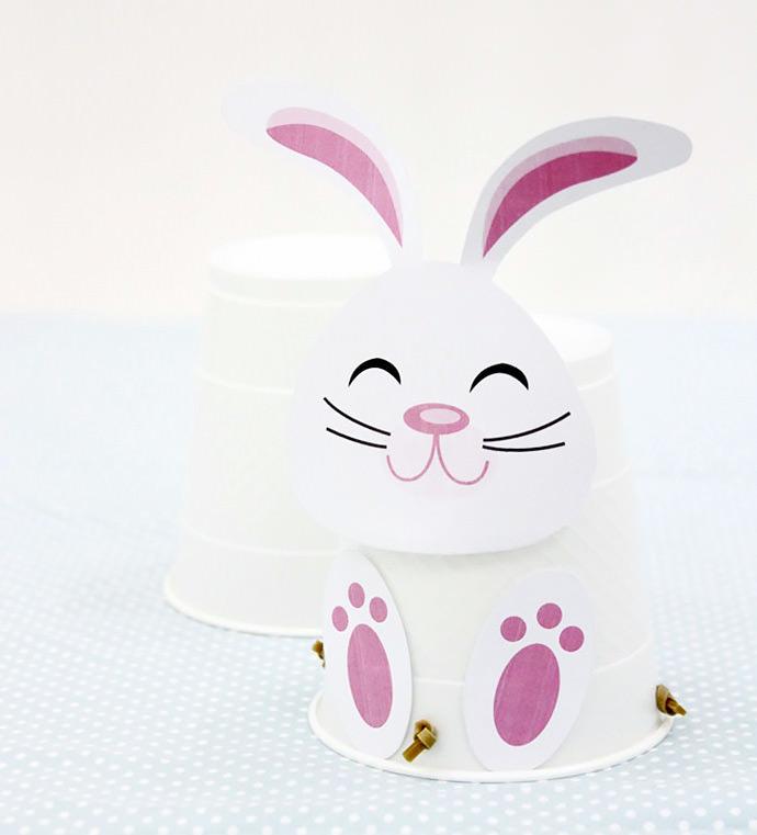 Printable Hopping Easter Bunny