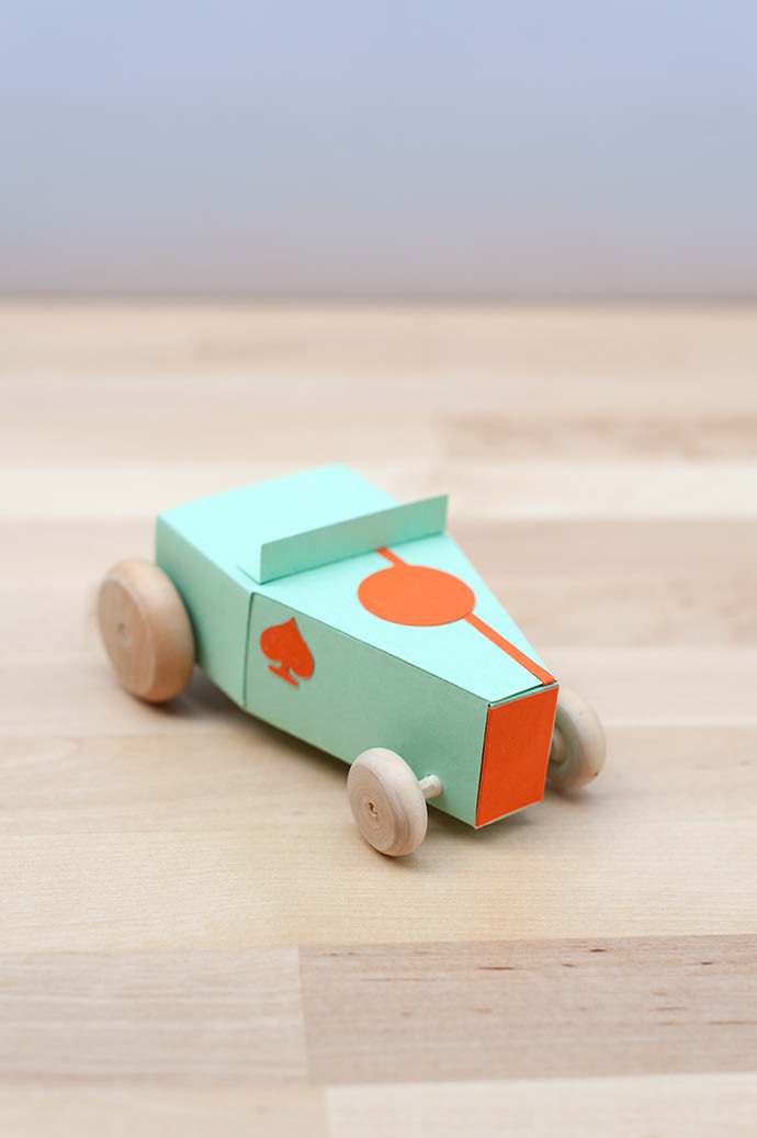 Design Your Own Paper Hot Rod Kit