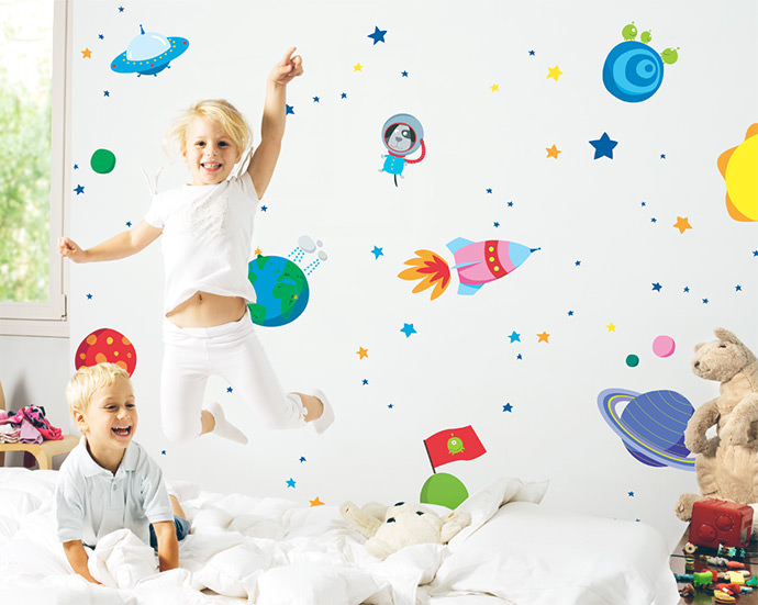 Super Space Wall Decal Set by Bumoon