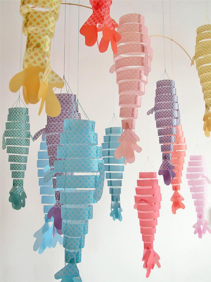 Extra large diy paper lantern handmade charlotte for Paper lantern fish
