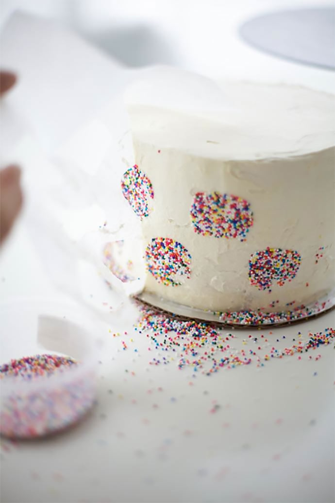 Polka Dot Inside And Out Birthday Cake