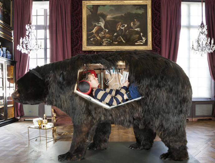 13 Days Inside A Taxidermy Bear - I thought only my kids came up with ideas like this...