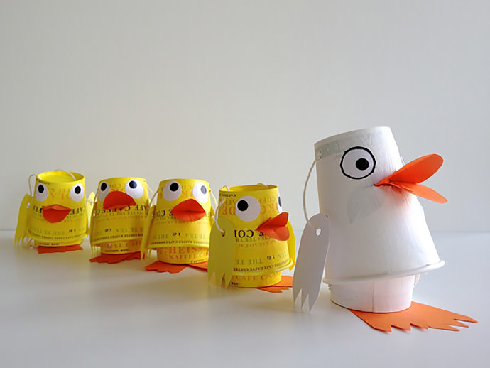 DIY Paper Cup Duck Family Puppets ⋆ Handmade Charlotte