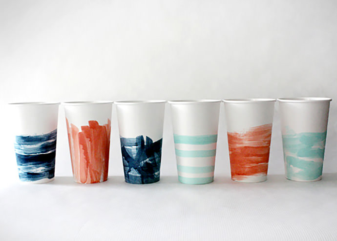 DIY Painterly Paper Cups