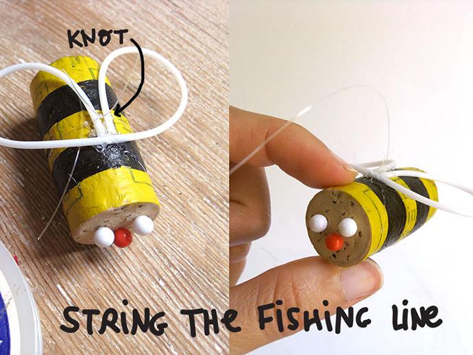 DIY Bumblebee Mobile