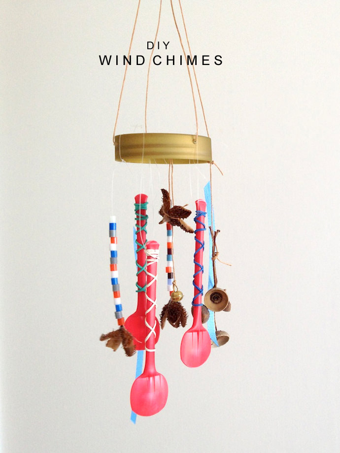 Diy wind chimes handmade charlotte for Wind chimes from recycled materials