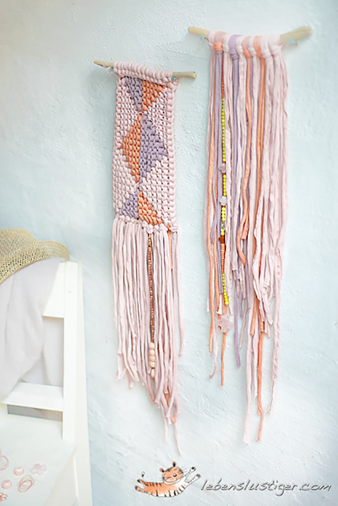 Diy summer wall hangings handmade charlotte for Wall hangings