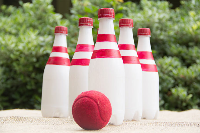 DIY Recycled Bottle Bowling (via MoonFrye)