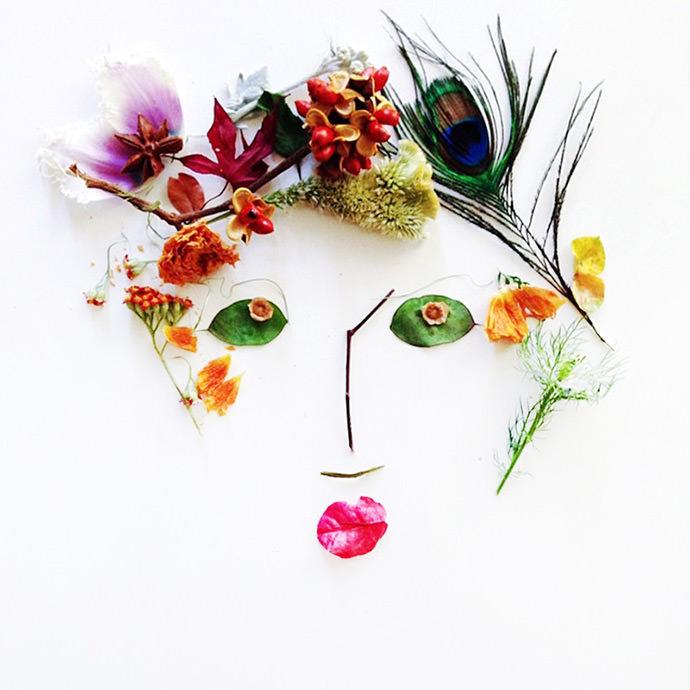 DIY Foliage Faces (via Uppercase Mag)