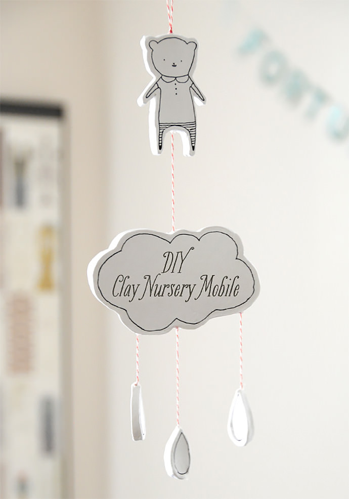 DIY Clay Nursery Wall Hanging via Creature Comforts