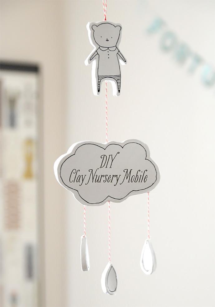 DIY Clay Nursery Wall Hanging via Creature Comforts