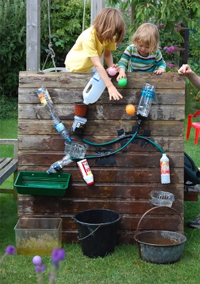 DIY Waterfall Water Wall for Kids (via Playing by the Book)