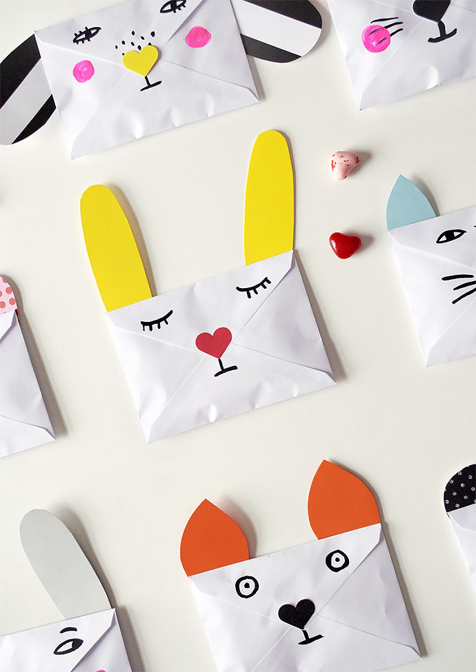 DIY Animal Envelopes via Mer Mag