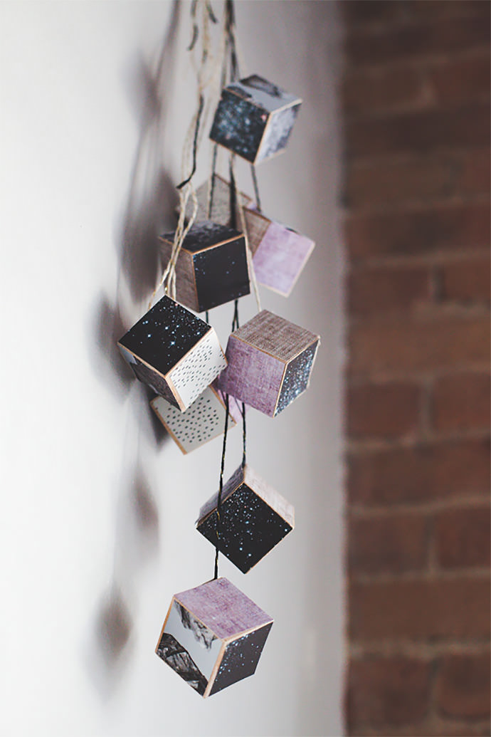 DIY Geometric Cube Wall Hanging via Babble