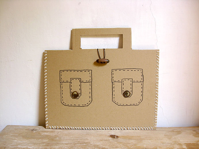 Recycled Cardboard Suitcase