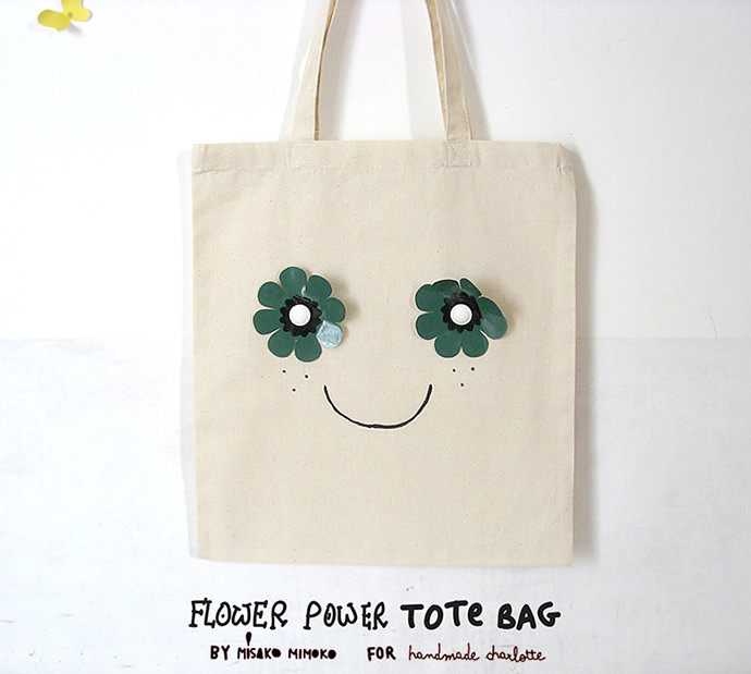 DIY Flower Power Tote Bag | Handmade Charlotte