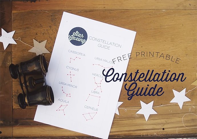 Printable Constellation Guide via Lulu The Baker