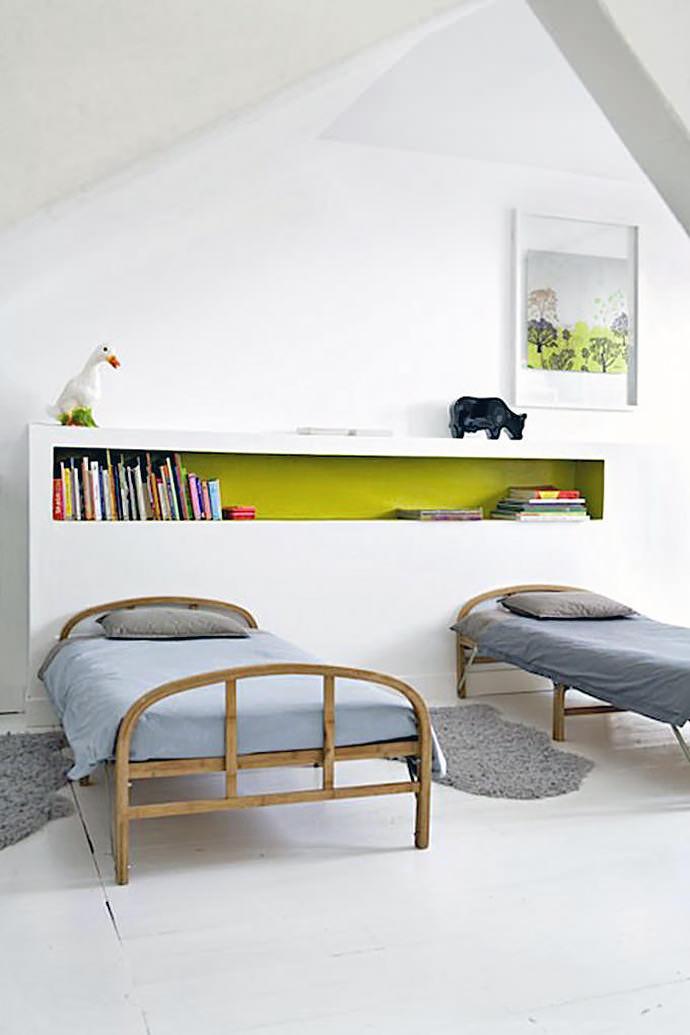 shared kids room (via bonnesoeurs)